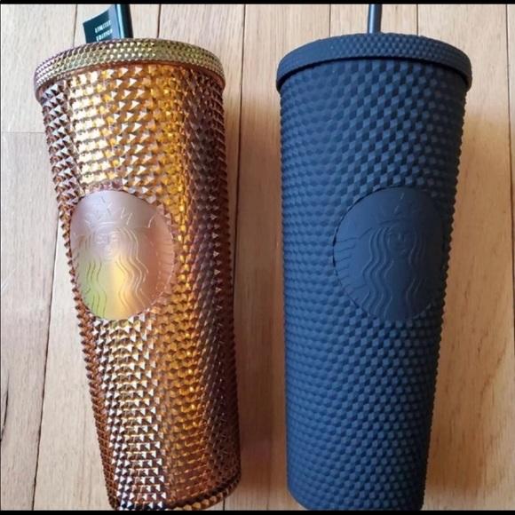 Starbucks 50th Ann & Black studded tumbler